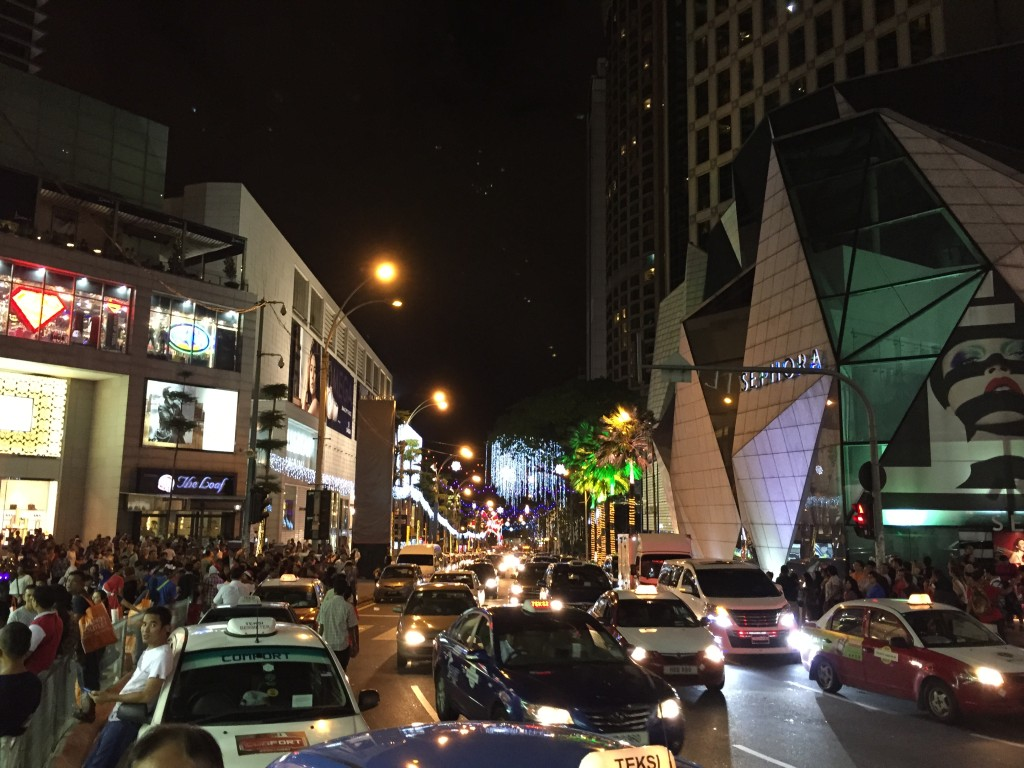 Shopping Center in Kuala Lumpur bei Nacht